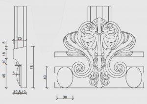 Historische Holzfenster - Kapitelle und Basen