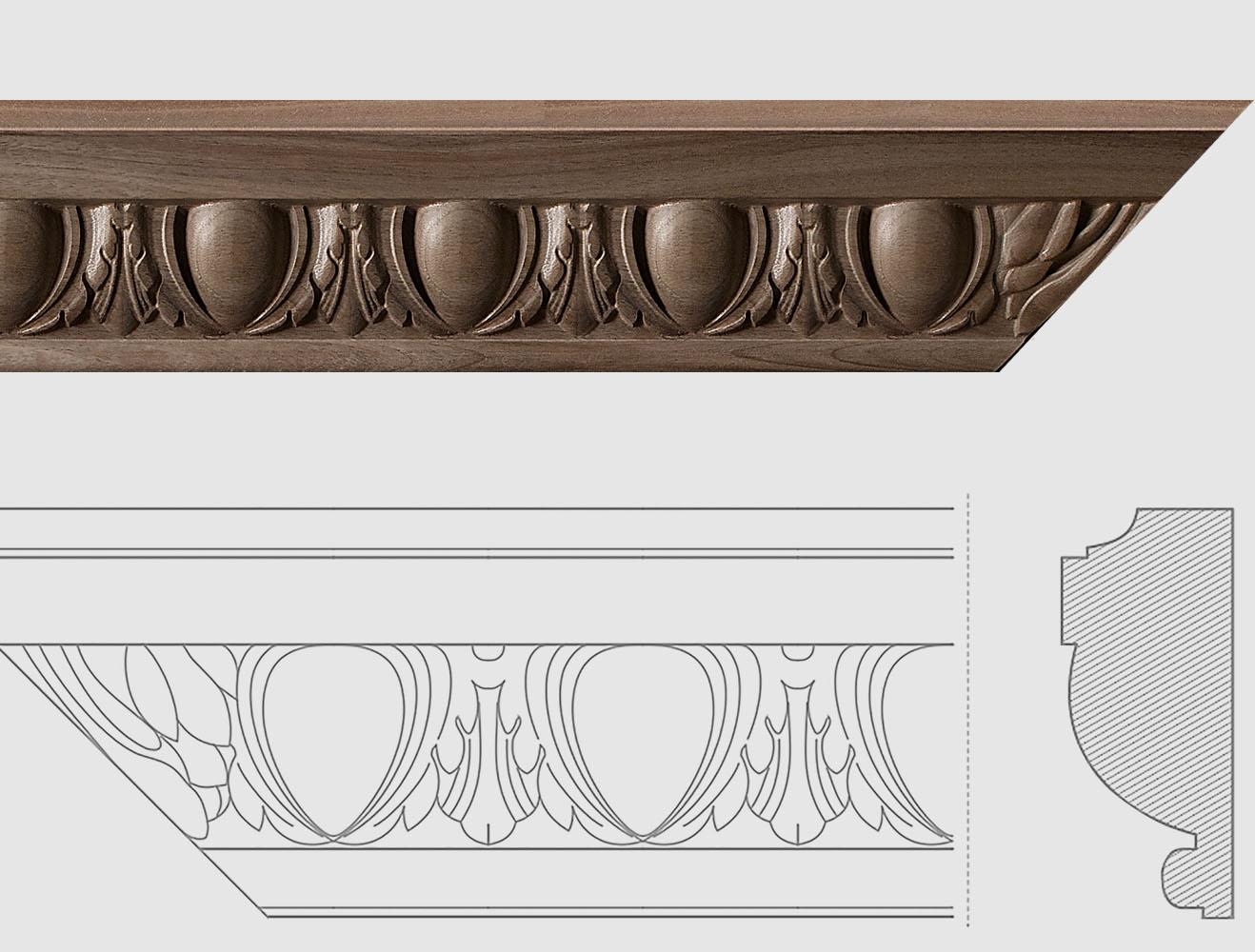 Gefräste Schnitzleisten für Holzrestaurierung und Stil Wohnen