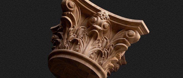 Die korinthische Ordnung ist eine der fünf klassischen Säulenordnungen
