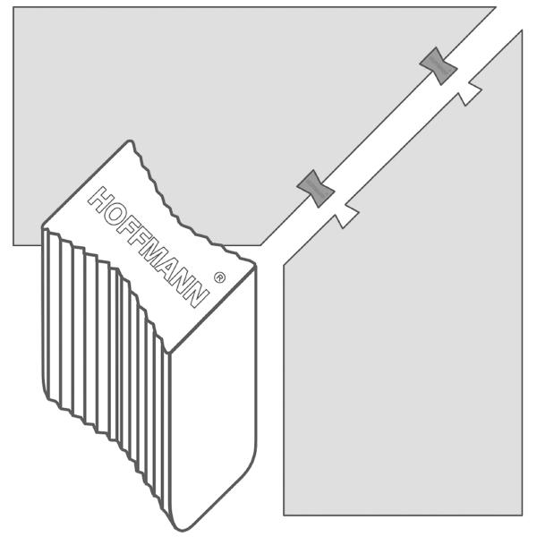 Holzleisten mit Hoffmann fittings