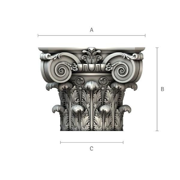Kompositkapitell und Säulen auf Anfrage