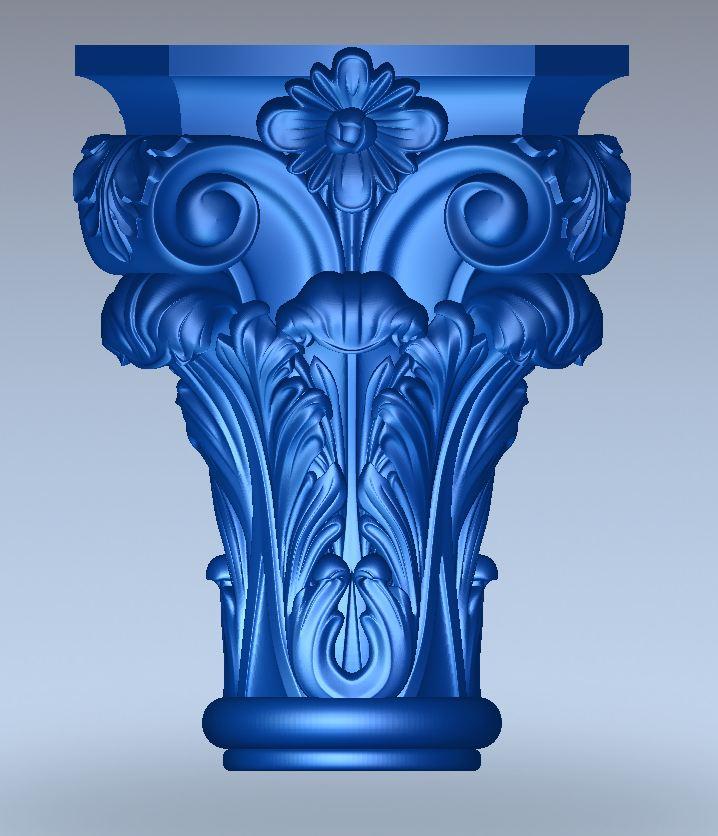 3D modelle Kapitelle für Holzfenster und Stilmöbel