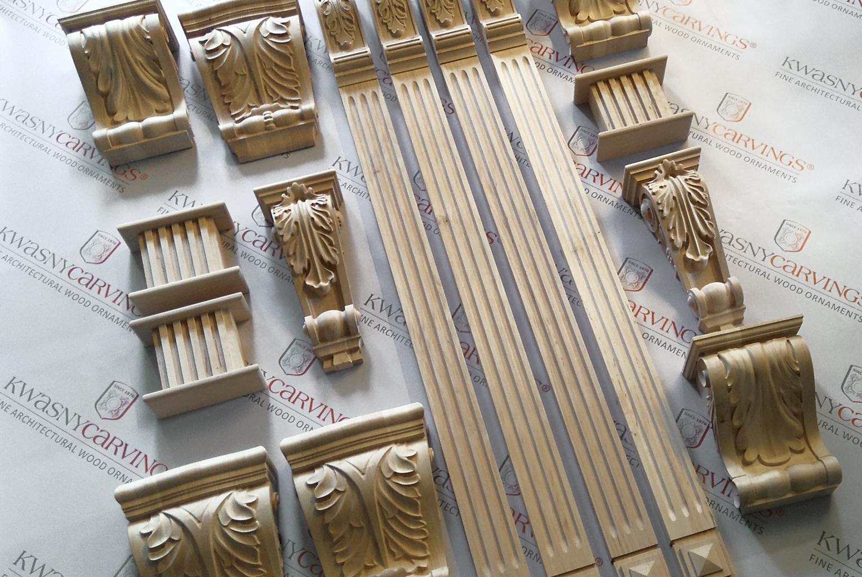 Holzschnitzerei individuelle, Schnitzteile auf Anfrage
