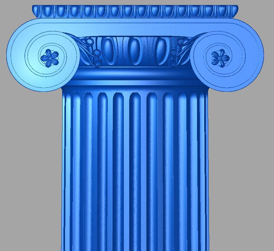 Ionisch Säule mit Kapitell auf Anfrage